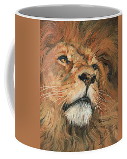 Portrait Of A Lion Coffee Mug by David Stribbling