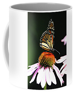 Coffee Mug featuring the photograph Portrait Of A Monarch by Trina Ansel