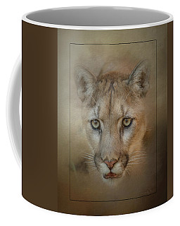 Portrait Of A Mountain Lion Coffee Mug