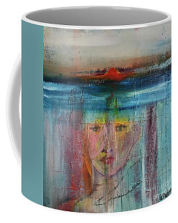 Coffee Mug featuring the painting Portrait Of A Refugee by Kim Nelson