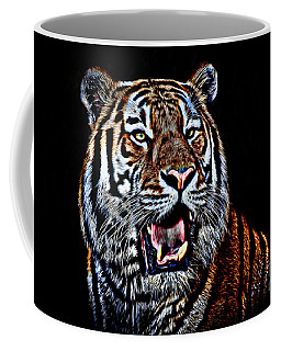 Portrait Of A Tiger Glowing Version Coffee Mug