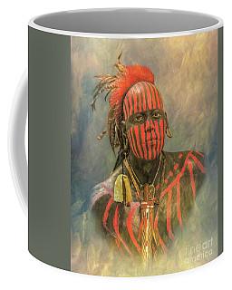 Portrait Of A Warrior Coffee Mug by Randy Steele