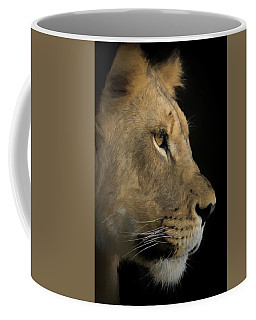 Portrait Of A Young Lion Coffee Mug by Ernie Echols