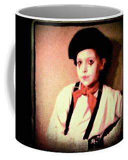 Portrait Of A Young Mime Coffee Mug by Susan Lafleur