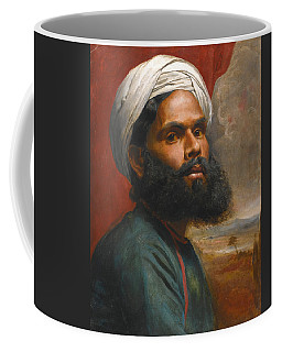 Coffee Mug featuring the painting Portrait Of An Indian Sardar by Edwin Frederick Holt