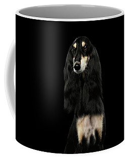 Portrait Of Black Saluki Coffee Mug
