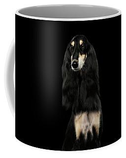 Coffee Mug featuring the photograph Portrait Of Black Saluki by Sergey Taran