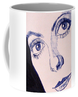 Portrait Of Catherine Close Up Details Coffee Mug