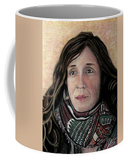 Coffee Mug featuring the pastel Portrait Of Katy Desmond, C. 2017 by Denny Morreale