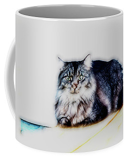 Portrait Of Maine Coon, Mattie Coffee Mug