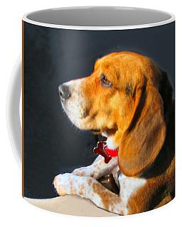 Portrait Of Pebbles - The Independent Beagle Coffee Mug