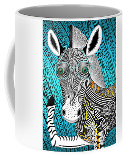 Portrait Of The Artist As A Young Zebra Coffee Mug