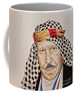 Portrait Of The Pro Wrestler Known As The Iron Sheik Coffee Mug