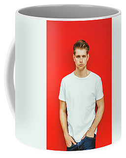 Portrait Of Young Handsome Man Coffee Mug