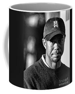 Portrait  Tiger Woods Black White  Coffee Mug