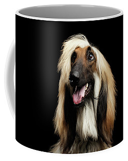 Portraitof Afghan Hound On Black Coffee Mug