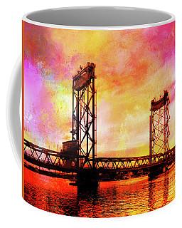 Portsmouth Memorial Bridge Abstract At Sunset Coffee Mug