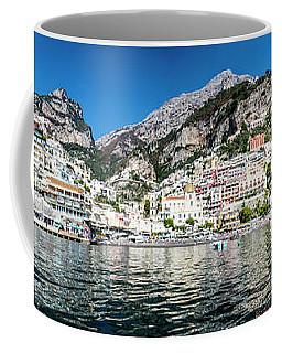 Positano From The Sea - Panorama I Coffee Mug
