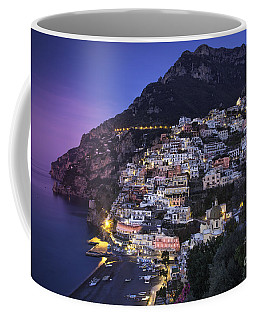 Coffee Mug featuring the photograph Positano Twilight by Brian Jannsen