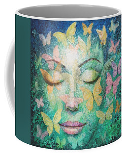 Coffee Mug featuring the painting Possibilities Meditation by Sue Halstenberg