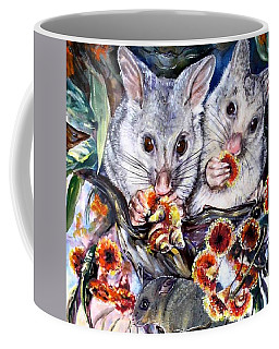 Possum Family Coffee Mug