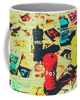 Coffee Mug featuring the photograph Postage Pop Art by Jorgo Photography - Wall Art Gallery