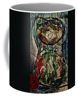 Potpourri Vase With Rose Coffee Mug