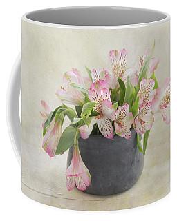 Coffee Mug featuring the photograph Pot Of Pink Alstroemeria by Kim Hojnacki