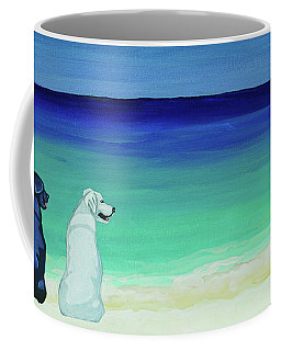 Lab Potcake Dogs On The Beach Coffee Mug