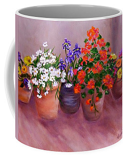 Pots Of Flowers Coffee Mug