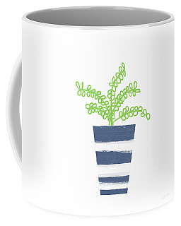 Coffee Mug featuring the mixed media Potted Plant 1- Art By Linda Woods by Linda Woods