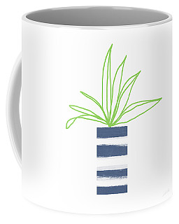 Coffee Mug featuring the mixed media Potted Plant 2- Art By Linda Woods by Linda Woods