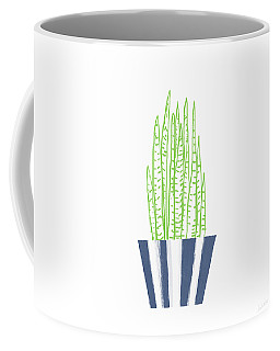 Potted Succulent 3- Art By Linda Woods Coffee Mug