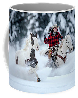 Coffee Mug featuring the photograph Powder Ride by Jack Bell