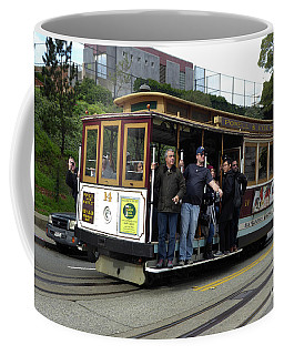 Coffee Mug featuring the photograph Powell And Market Street Trolley by Steven Spak