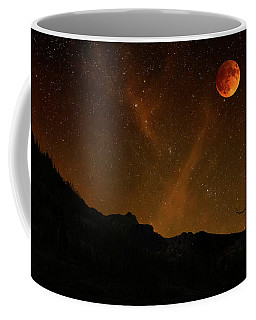 Coffee Mug featuring the photograph Power Blood Moon by Scott Cordell