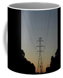 Power Lines At Sunset Coffee Mug