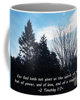 Power, Love, And A Sound Mind Coffee Mug