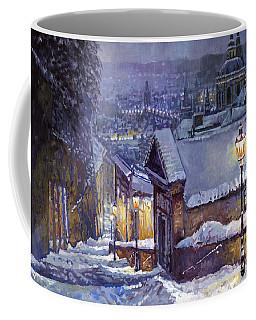 Prague Castle Steps Winter   Coffee Mug