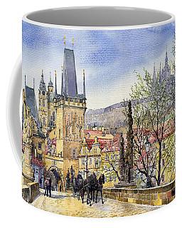 Prague Charles Bridge Spring Coffee Mug