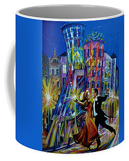 Prague. Fred And Ginger Dancing House. Coffee Mug