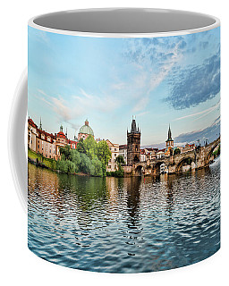 Prague From The River Coffee Mug