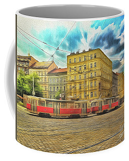 Coffee Mug featuring the photograph Prague by Leigh Kemp