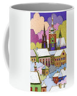 Prague Old Roofs Prague Castle Winter Coffee Mug