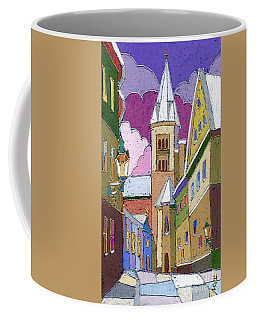 Prague Old Street Jilska Winter Coffee Mug