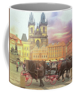 Coffee Mug featuring the photograph Prague Old Town Square by Leigh Kemp