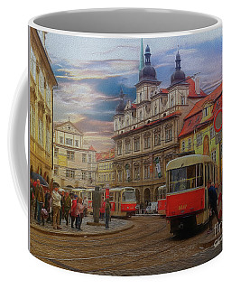 Coffee Mug featuring the photograph Prague, Old Town, Street Scene by Leigh Kemp