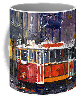 Prague Old Tram 09 Coffee Mug