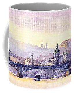 Prague Panorama Chehuv Bridge Coffee Mug