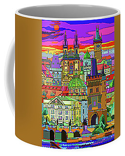 Prague Panorama Old Town Coffee Mug